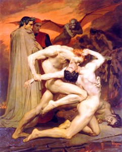 Mythology-Images-of-hell-Dante-and-Virgil-in-Hell-1850
